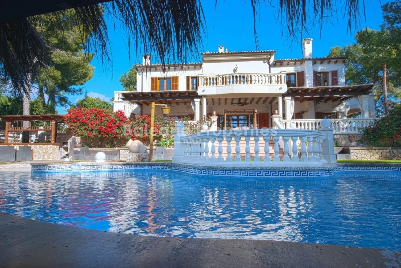 Imposing villa with private saltwater pool for sale in Portals Nous, Mallorca