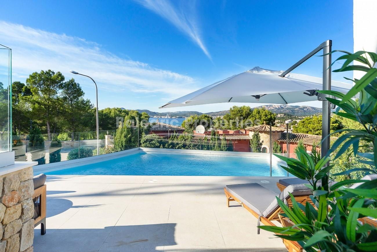 Newly refurbished villa with amazing views for sale in Santa Ponsa, Mallorca